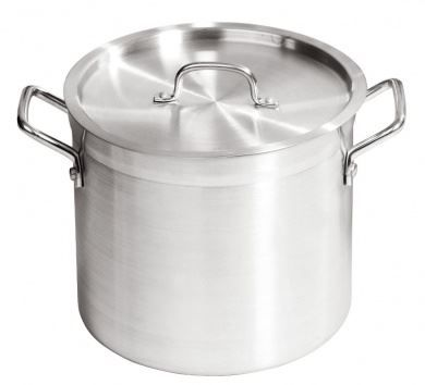 20 Ltr Aluminium Heavy Duty Stock Cooking Pot With Lid Handles Professional Cookware