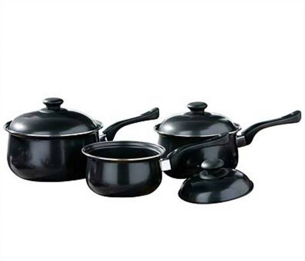 3pc Black Cookware Set