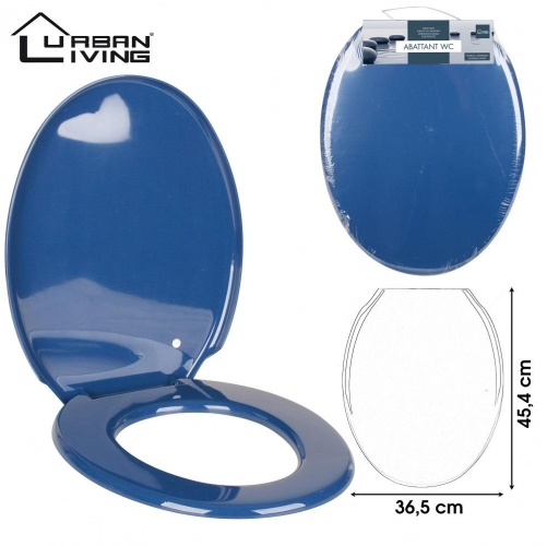 Dark Blue Toilet Seat Plastic45x36cm strong