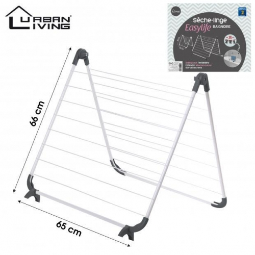 Clothes Dryer Rack Foldable Metal White