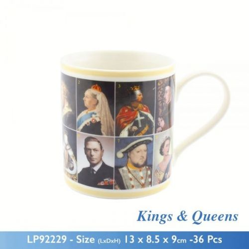 Famous English King And Queens Tea Coffee Mug Fine China