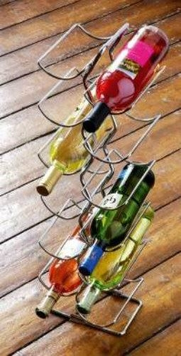 Chrome Wire 6 Tier Wine Rack