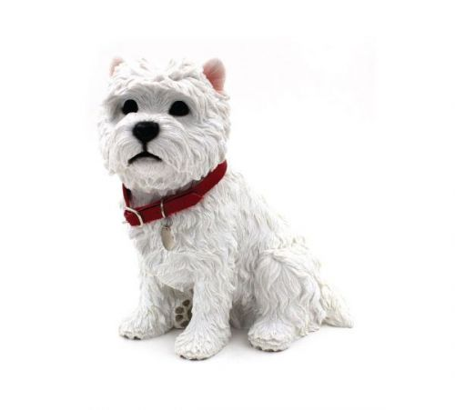 24Cm Walkies West Highland Terrier Dog Sitting Ornament Home Decoration Figurine