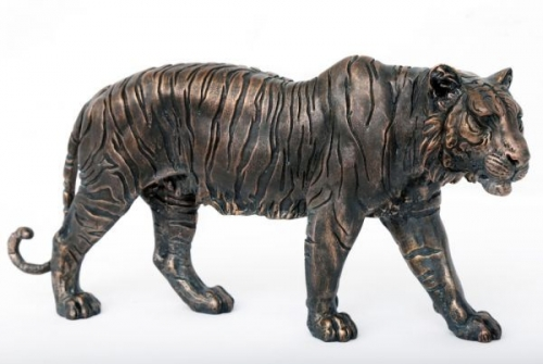 46.5cm Bronze Tiger Ornament  Home Office Decoration Polyresin