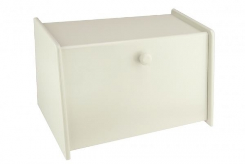 Mint Cream Wooden Bread Bin Box Front Drop Door