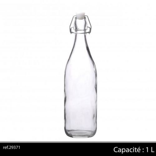 1Ltr Glass Bottle Clear