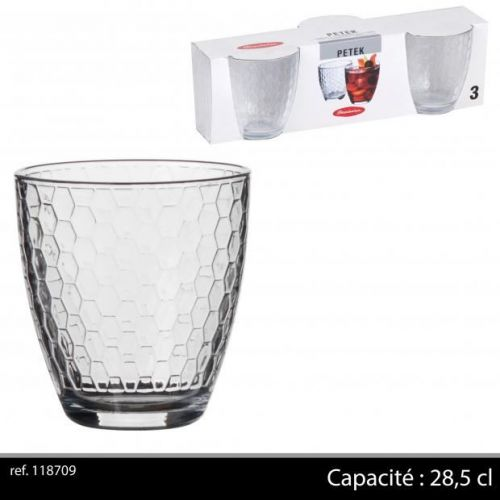 Set of 3 Passabache Petek  Glasses 28,5 Cl