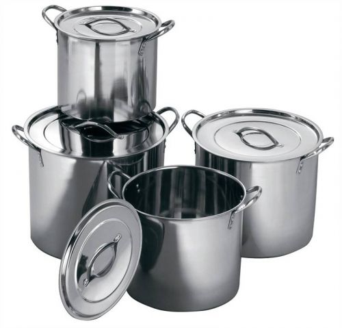 Set of 4 Stainless Steel Stockpots