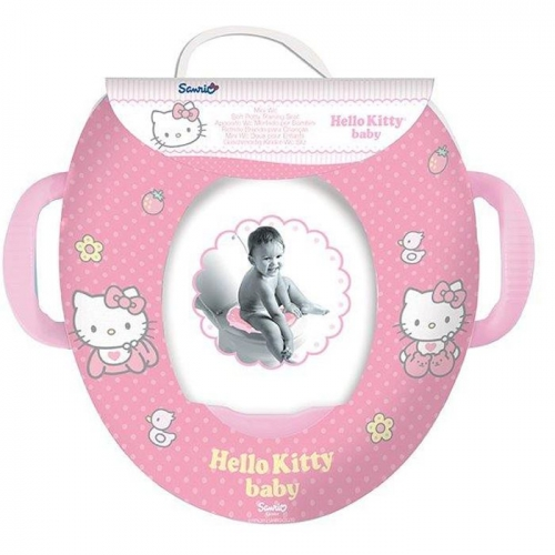 Hello Kitty Kids Soft Padded Potty Toilet Training Seat With Handles WC Child Toddler
