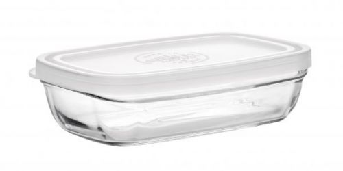 Duralex Cocktail Snack Dish With Frosted Lid 15Cm Single Clear Glass