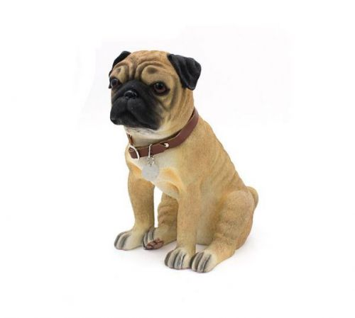 24Cm Pug Sitting Dog Ornament Home Decoration Figurine