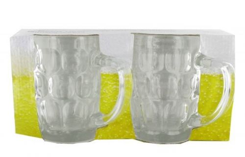 2 Piece Beer Glasses Mugs 54ml for Lager Cider Drink Alcohol Barware