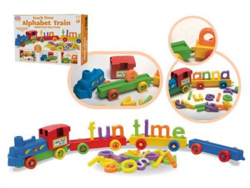 Build Your Own Alphabet Learing Push Train Set Activity Toy