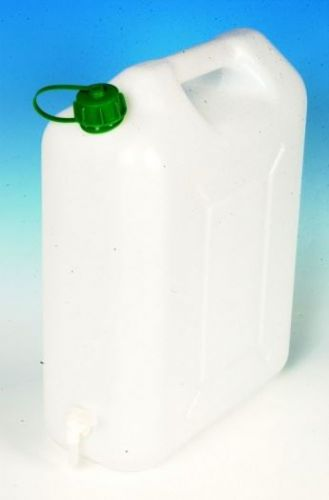 20Ltr White Watercan Storage With Tap and Handle Plastic