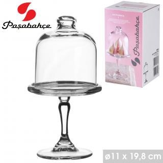 19.5cm Mini Glass Cake Dome Candy Dish Dessert With Bell Top Lid