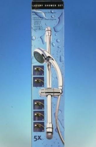 5 Function Shower set with Hose and sliding Bar