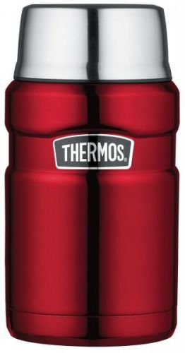 Thermos King Hot and Cold Travel Food Flask 710ml Red
