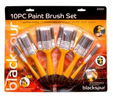 10Pc Paint Brush Set