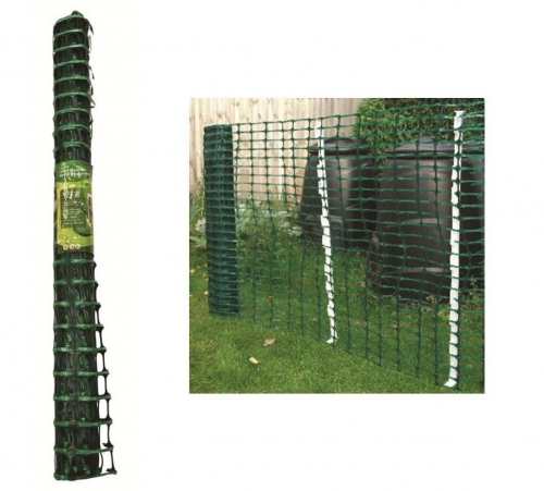 1 X 15M Green Plastic Barrier Mesh Fencing For Garden Safety