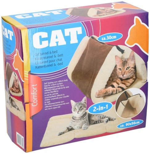 Cat Bed With Zip for use in carpets 90x56cm Brown