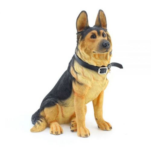 27Cm German Shepherd Sitting Ornament Home Decoration Dog Figurine