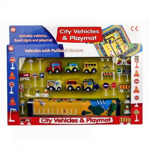City Vehicles and Playmat