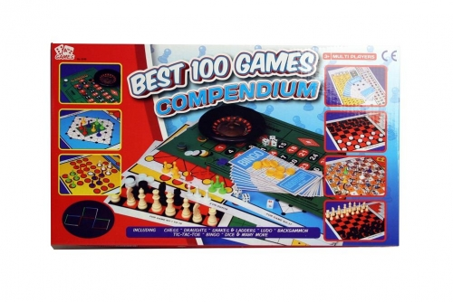 Best 100 Compendium Family Board Games Set