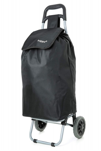 Large 22 Inches Black Shopping Trolley Hoopa Wheeled