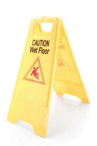 3 Pack Caution Wet Floor Cleaning Safety Sign Plastic