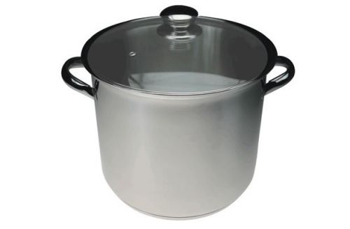 Stainless Steel Stock Pot 10l With Glass Lid and Handles 28 cm