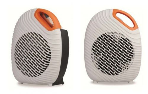 2Kw Orange Two Tone Fan Heater Compact Stylish