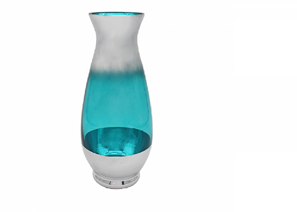 Blue and Silver Metallic Vase for home decoration