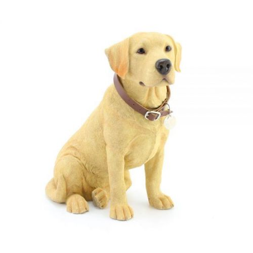 24Cm Golden Labrador Sitting Dog Ornament Home Decoration Figurine