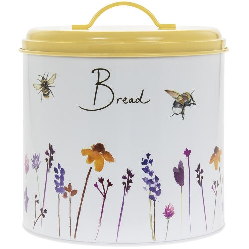 Busy Bees Design Bread Bin With Lid Kitchen Food Storage