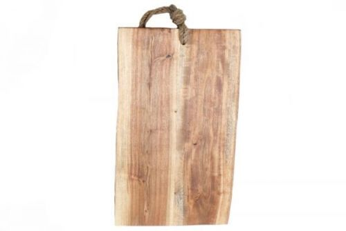 29x54cm Acacia Wooden Chopping Board With Rope